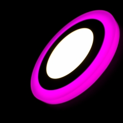 Светильник LED ультратонкий TruEnergy с декоративной подсветкой 12+4W