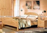 """Кровать двуспальная с заглушкой с ножной спинкой """"Лотос"""" Б-1090-05"""