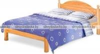 """Кровать двуспальная с заглушкой без ножной спинки """"Лотос"""" Б-1090-08"""