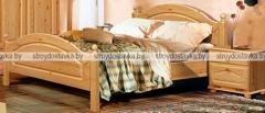 """Кровать двуспальная с заглушкой с ножной спинкой """"Лотос"""" Б-1090-11"""