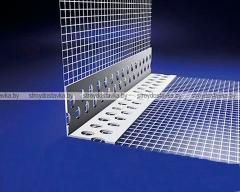Уголок перфорированный алюминиевый с сеткой