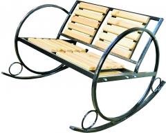 Садовая скамья-качалка двухместная