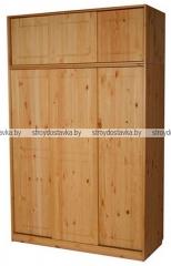 Шкаф-купе для одежды трехстворчатый МД 185